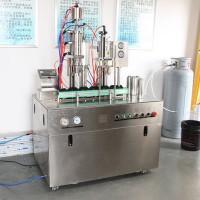 煎锅用润滑油灌装设备 二元剃须泡沫气雾剂灌装机 催泪喷雾灌装机